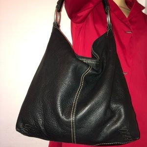 Lucky Brand 100% Cow Hide Leather Hobo Bag